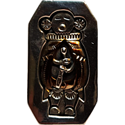 Wes Craig Navajo ring sterling 12K gf medicine man shadow box