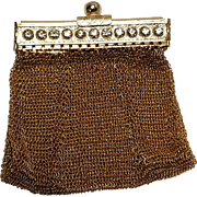 Chain mail mesh change purse  rhinestone