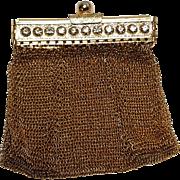 Chain mail mesh change purse  rhinestone