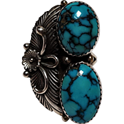Peterson Johnson Navajo sterling silver turquoise ring