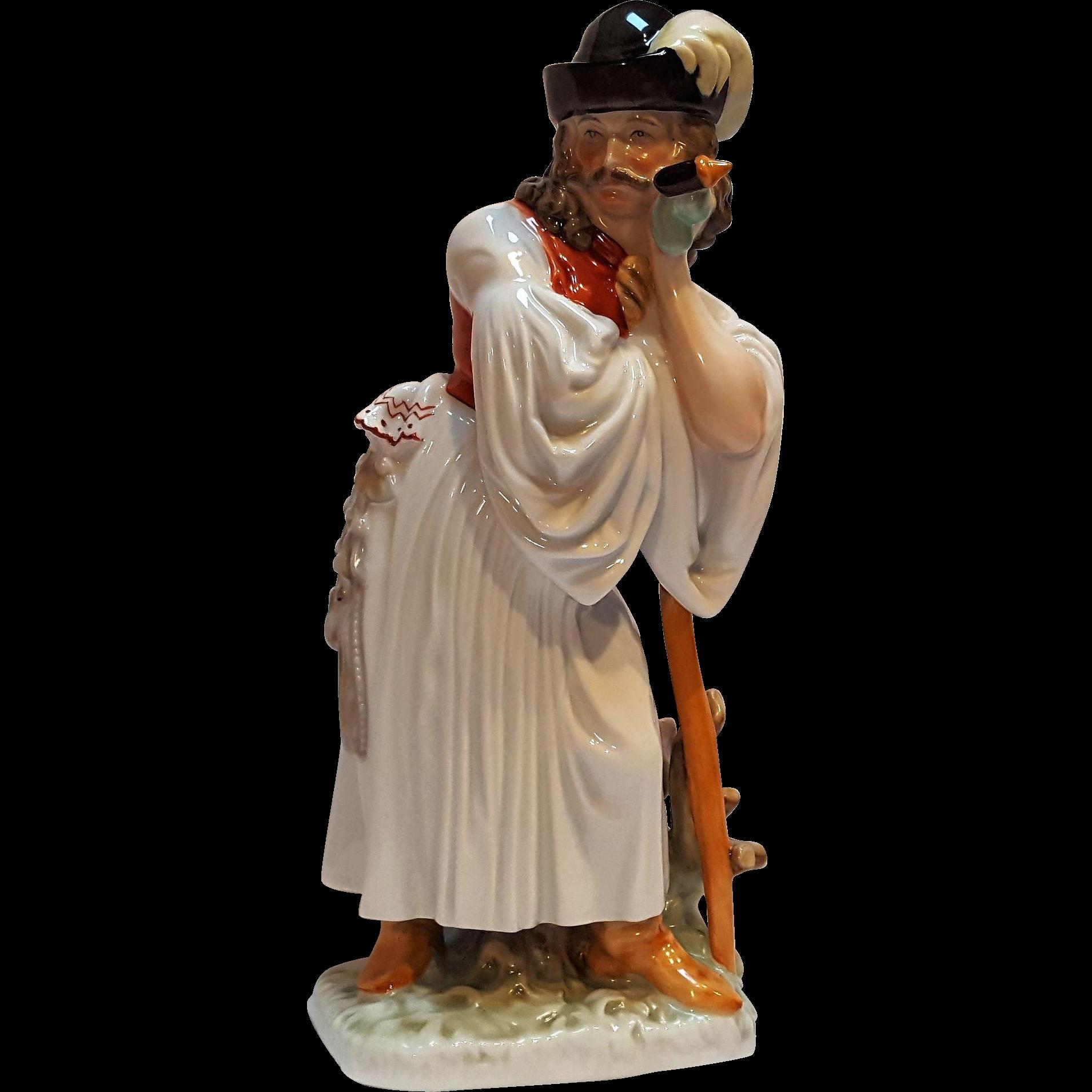 Herend peasant shepherd porcelain figurine 5427