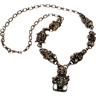 Carol Felley storyteller necklace sterling silver Southwest