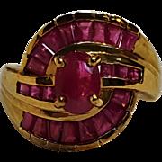 Samuel Aaron 10K gold pink stone ring