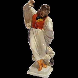 Herend porcelain figurine folk gypsy dancer 5497