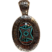 Relios sterling silver RMT Roderick Tonorio inlay pendant morning star