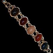 Scarab sterling silver bracelet wide