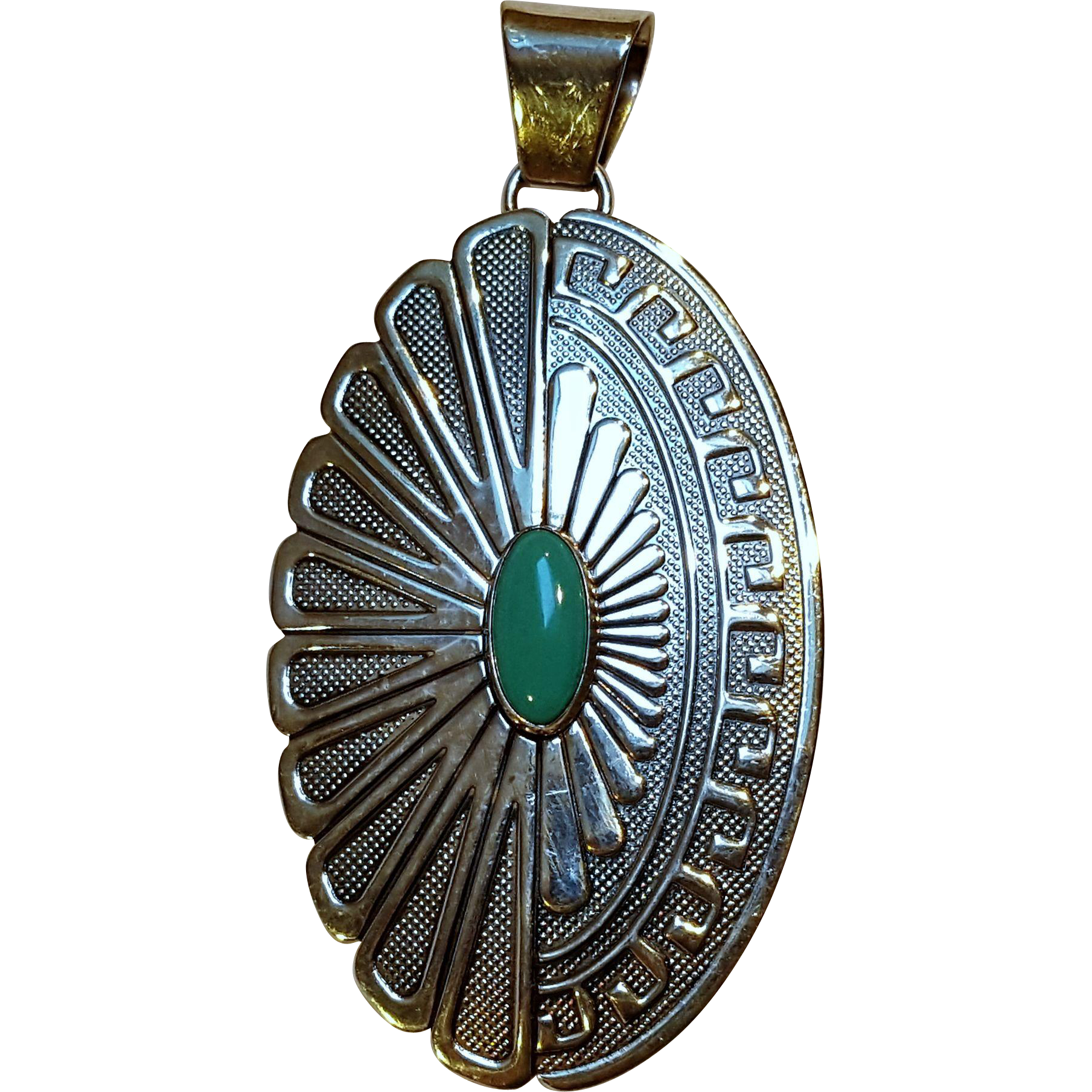 Relios Carolyn Pollack Southwest sterling silver turquoise pendant