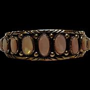 Julia Martinez Navajo sterling silver mother of pearl cuff bracelet