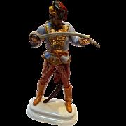 Herend porcelain figurine cavalry soldier 5505 Hadik Hussa