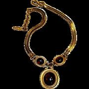 YSL Yves Saint Laurent reversible necklace poured acrylic stones