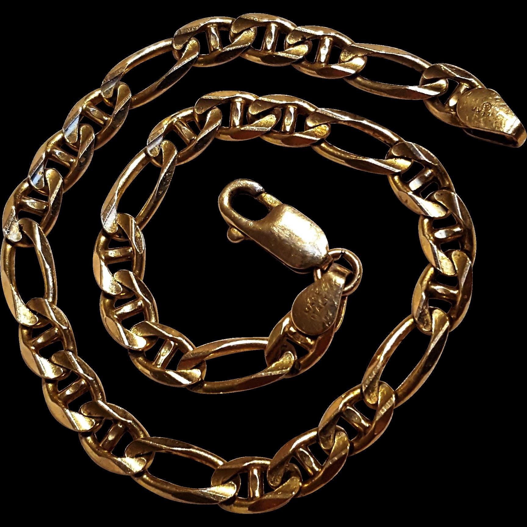 14K Gold bracelet Italy 7.2 grams