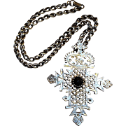 Alva Ethiopian Coptic cross pendant necklace