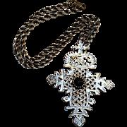 Alva Ethiopian Coptic cross pendant necklace