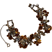 Juliana rhinestone bracelet honey amber yellow colors
