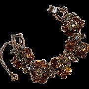 Juliana rhinestone bracelet honey amber yellow colors