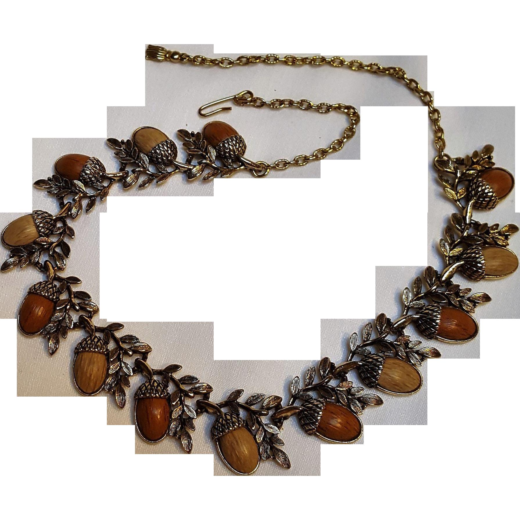 Acorn necklace Knotts berry farm by Coro