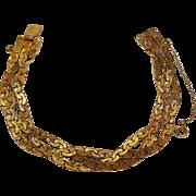 Carl Art 12K gold filled bracelet braided chain