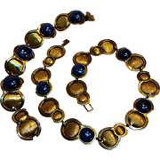Morita Gil Amano Chile lapis brass Modernist necklace bracelet set