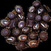 De luxe NYC  A'DAM Wide lavender glass cabochon bracelet