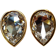 Swarovski SAL crystal clip earrings