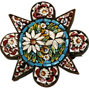 Antique mosaic pin