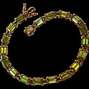 10K Gold peridot bracelet