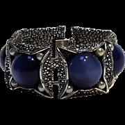 Napier Moonglow lucite bracelet blue 1950's
