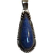 Southwest  Sterling silver blue stone pendant