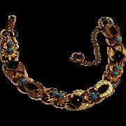 Florenza bracelet simulated garnet turquoise, horseshoe heraldic shield