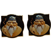 Toshikane Jurojin cufflinks God of longevity