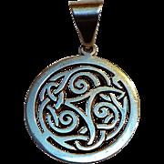 Silpada sterling silver Celtic pendant S1230