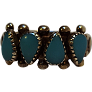 JP Sterling silver turquoise ring Southwest design