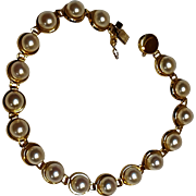 10K Gold Akoya cultured pearl bracelet