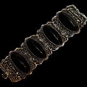Vintage wide plastic insert bracelet