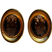 14K gold filled smoky quartz cufflinks Dolan Bullock