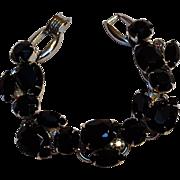 Juliana black rhinestone bracelet