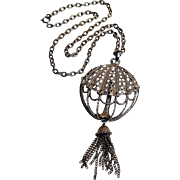 Trifari Mod  pendant necklace with tassel