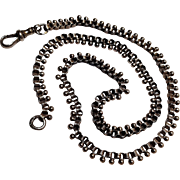 Antique sterling silver Belcher ball chain collar necklace