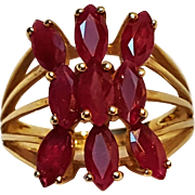 10K Gold ruby cocktail ring