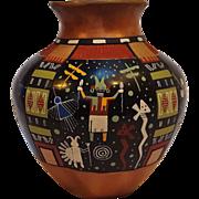 Lawrence Namoke Hopi Solistice pot pottery