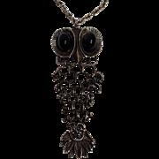 Owl pendant necklace Brutalist
