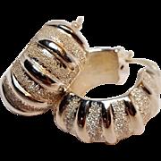 Milor sterling silver huggie hoop earrings Italy
