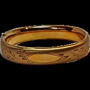 Gold filled hinged hollow bangle bracelet