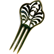 Celluloid hair comb green