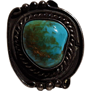Southwest sterling silver turquoise ring