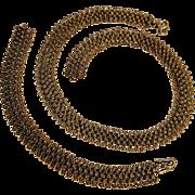 Sterling silver cannetille necklace bracelet set