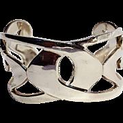 Sterling silver Modern cuff bracelet