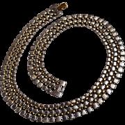 Napier silver gold tone flat link weave necklace