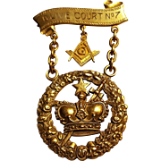 10K Gold Masonic order of Amaranth Royal Patron jewel pin