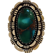Marie Smith Navajo sterling silver turquoise ring